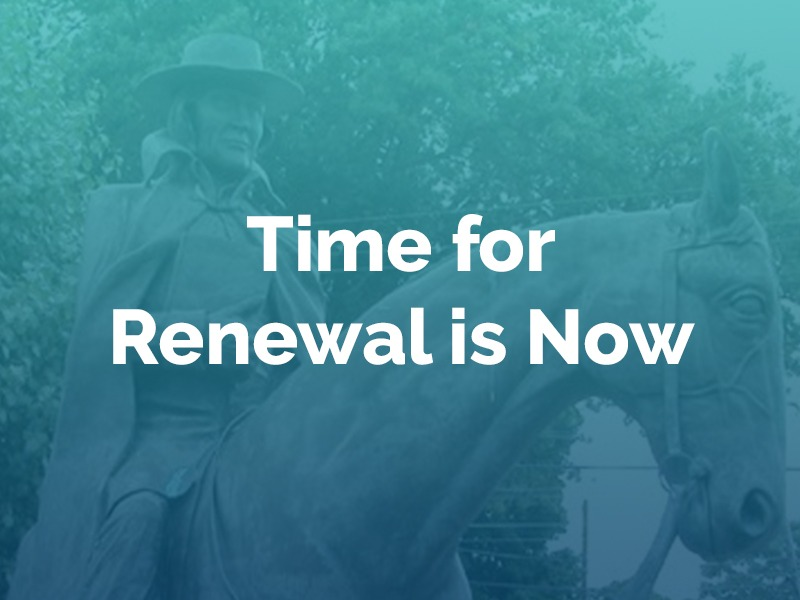 Time for renewal is now
