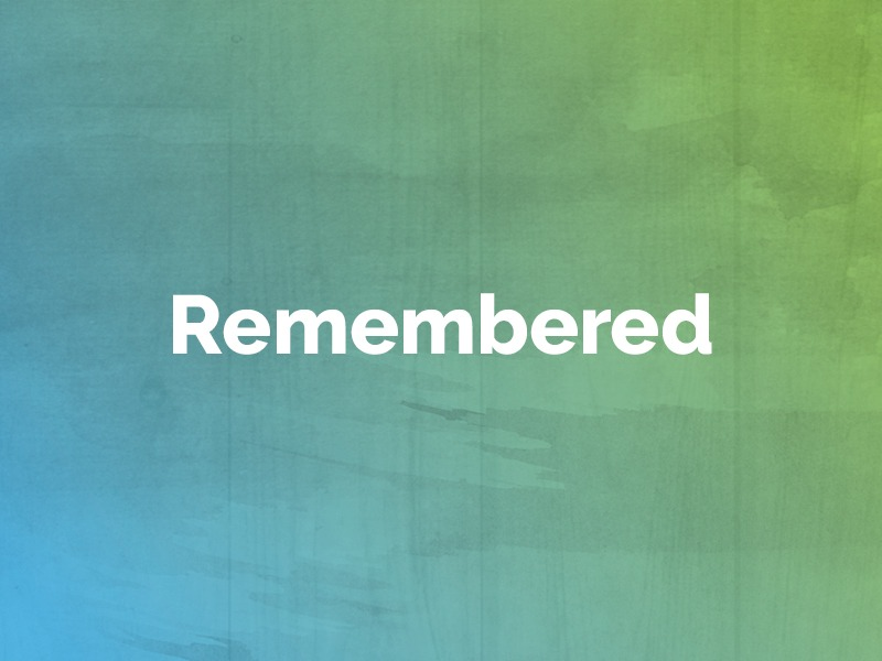 Remembered: July 29