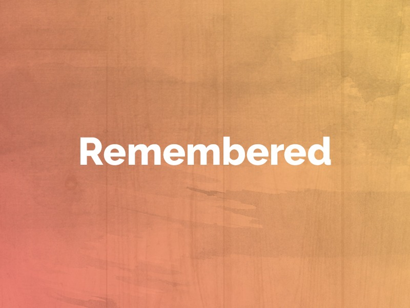 Remembered: October 15