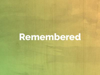 Remembered: April 1