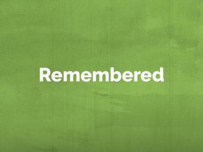 Remembered: April 29