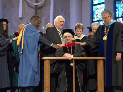 A holy moment at Wesley Seminary presidential installation