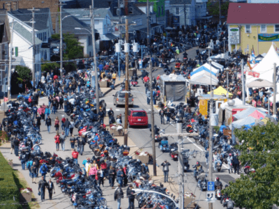 A motorcycle and church rally
