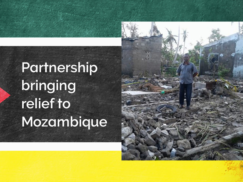 Partnership bringing relief to Mozambique