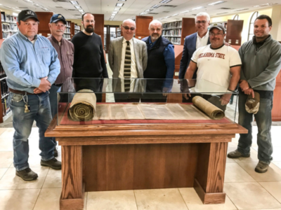 Torah Scroll from 1700s on display at OKWU