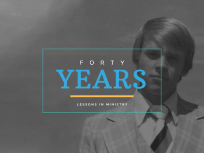 Lessons from 40 years of ministry