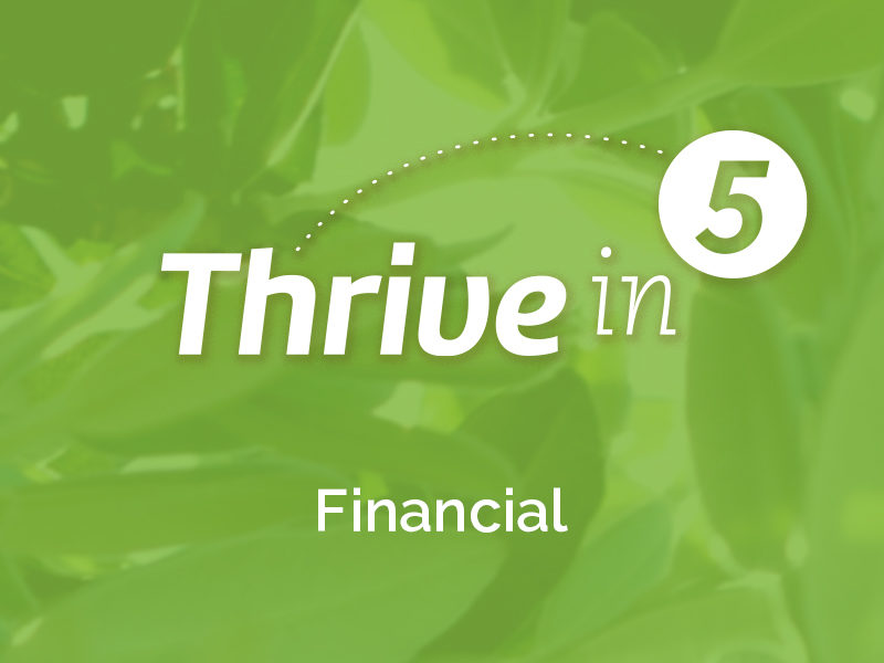 Thrive in 5: Financial- Five Simple Financial Principles