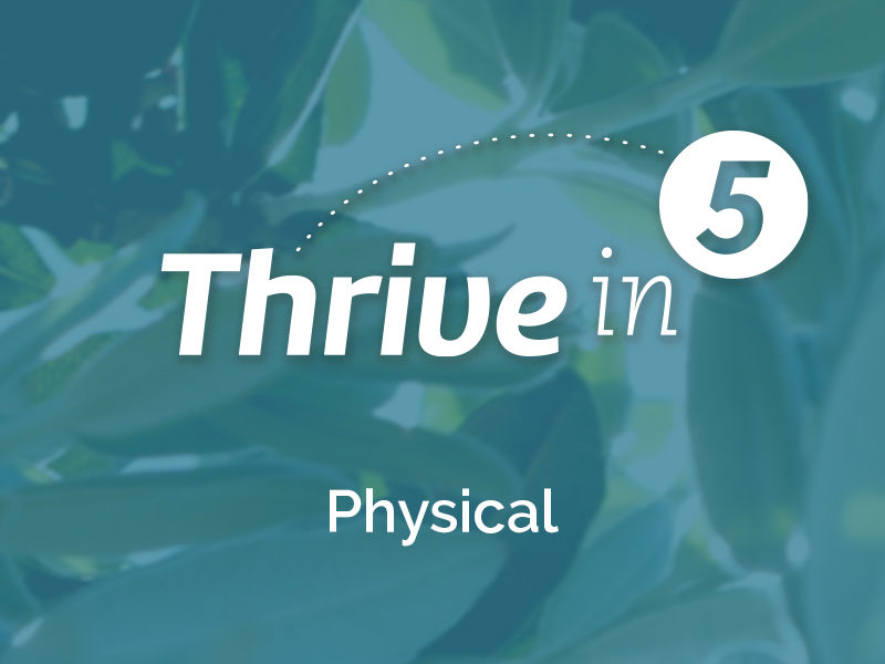 Thrive in 5: Physical- 5 Activities & Resources to get your blood pumping