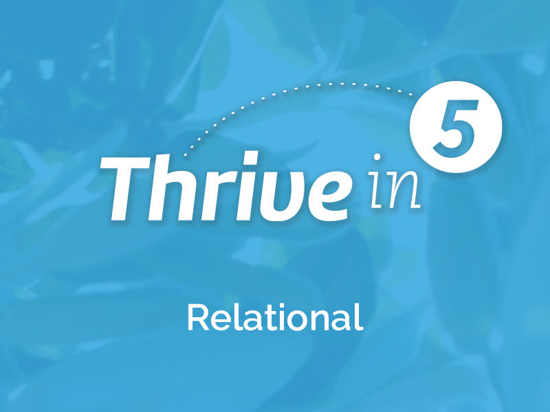 Thrive In 5-Co-Regulation (Relational)