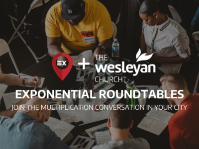 Exponential round tables focus on multiplication