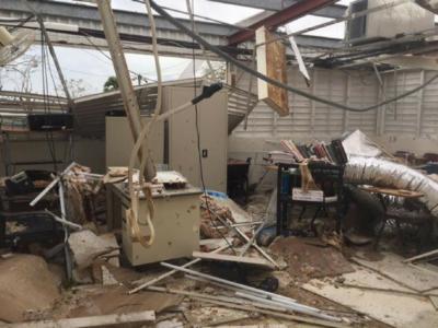 Wesleyan Academy Sustains Heavy Damage