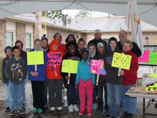 North Carolina church hosts human trafficking awareness walk