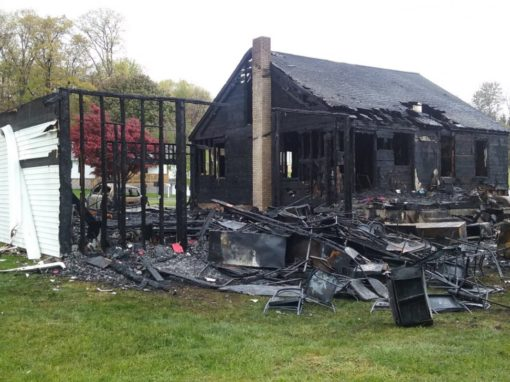 Longtime Wesleyan pastor and family survive, but lose all possessions in fire