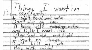 What does a foster child hope for?