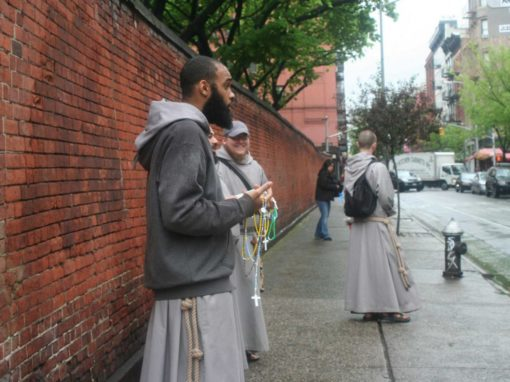 Capuchin Franciscan friars and sisters visit Houghton College