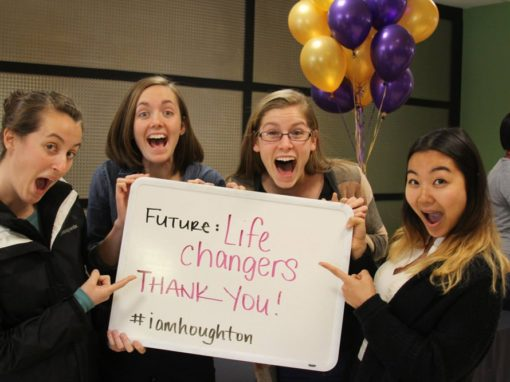 Houghton students thanking donors during the One Day Giving Campaign