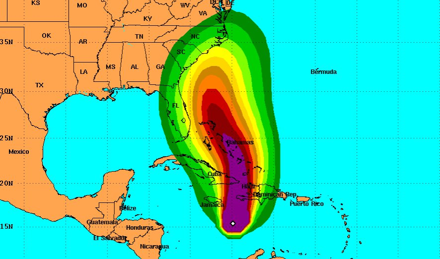 Pray for people in the path of hurricane Matthew