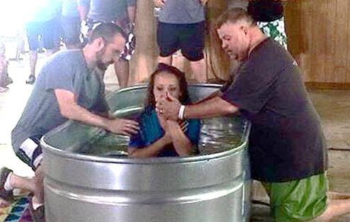 Baptisms highlight Indiana South teen camp