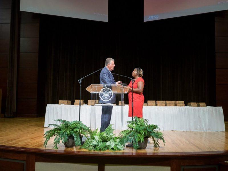 IWU honors Sia M'Bayo with Maidenberg Community Service Award