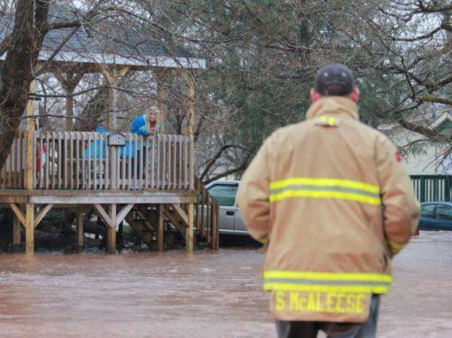 Open doors welcome flood evacuees