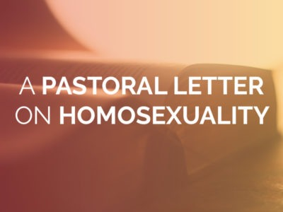 Pastoral Letter on Homosexuality