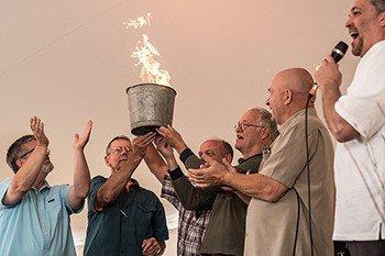 Maine church burns mortgage