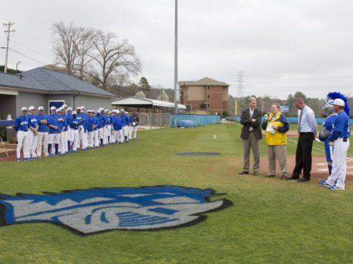Southern Wesleyan dedicates Parker-Sinnamon Baseball Clubhouse