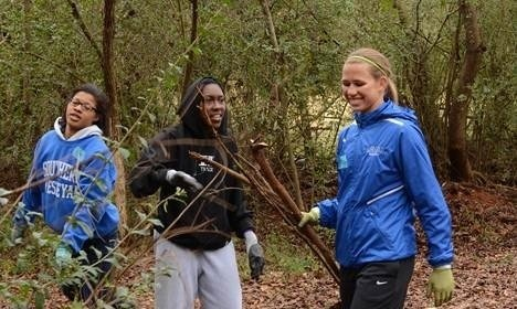 SWU students, faculty, and staff participate in Day of Service