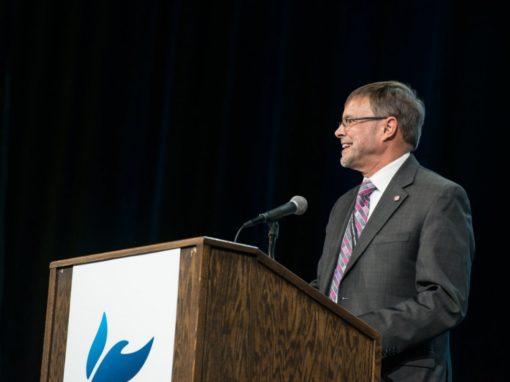 General Superintendent Schmidt addresses the General Conference